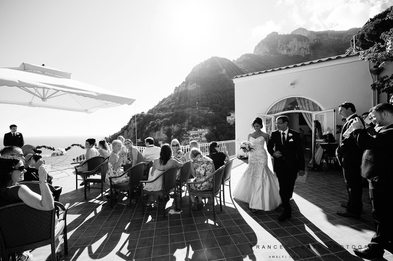 Civil wedding ceremony in the Positano town hall