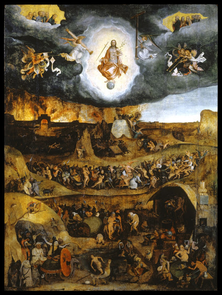 The Last Judgment by Pieter Huys, Macabre Art, Macabre Paintings, Horror Paintings, Freak Art, Freak Paintings, Horror Picture, Terror Pictures