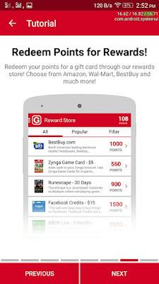 Redeem points for reward