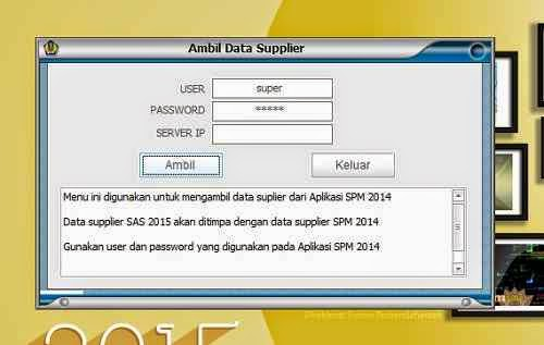data supplier Aplikasi sas