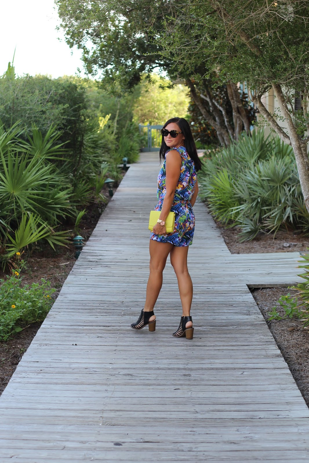 Blue Floral Romper, Rosemary Beach, Gigi New York, Karen Walker Flower