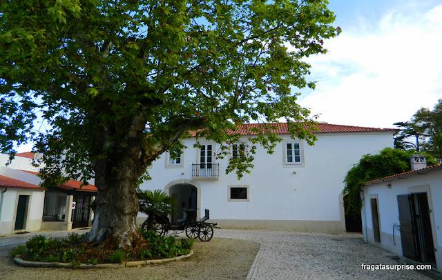 Pátio das carruagens do Hotel Solar Cerca do Mosteiro Alcobaça, Portugal