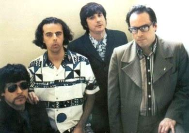 Foto de la banda Los 3 posando para la cámara