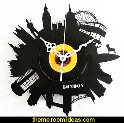 London Silhouette Decor Indicator Silent Wall Clock