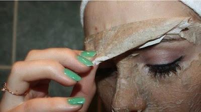 coquille d'oeuf pour enlever les rides du visage