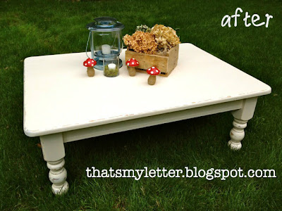 how to paint a pine coffee table