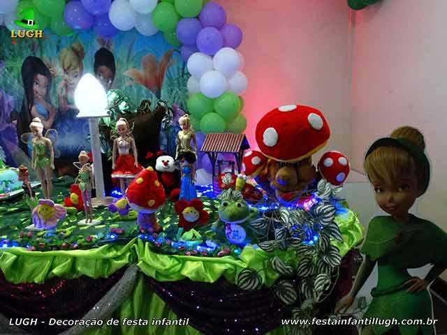 Tema Tinker Bell (Sininho), ornamentação de festa de aniversário infantil