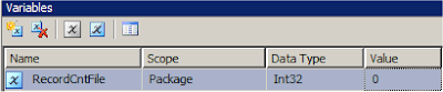 SSIS  Add the row number to incoming source records - Package Variable