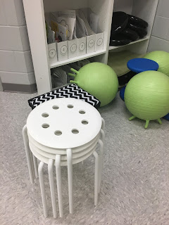 Flexible seating options for your music room: Blog post includes details as well as a music classroom reveal!
