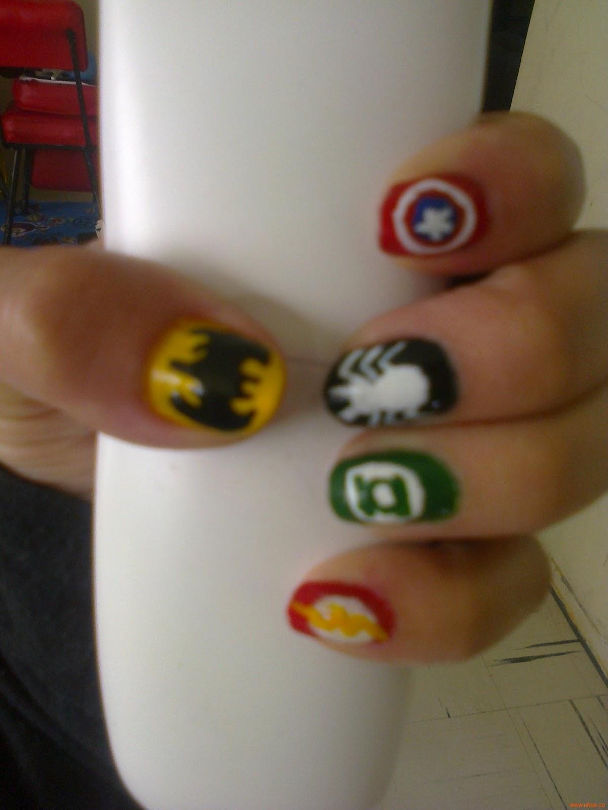 Decoraciones Para Tus Uñas Uñas De Superheroes