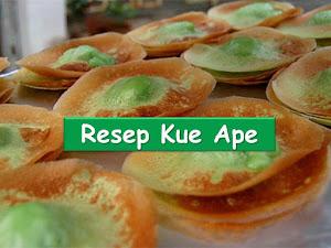 Resep kue ape pandan