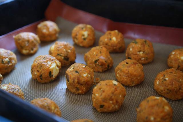 carrot falafel. British Organic Carrot supper club Pic: Kerstin Rodgers/msmarmitelover.com