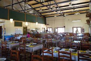 Restaurante del parque Deltaventur.