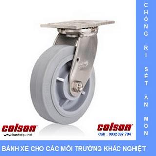 Bánh xe cao su càng bánh xe inox chịu tải trọng | www.banhxepu.net