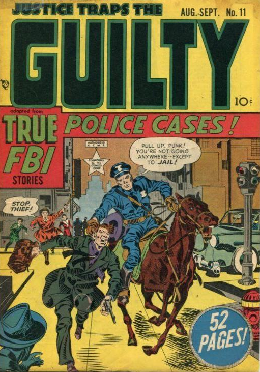 Jack Kirby Justice Traps the Guilty