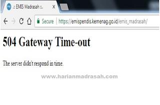 Apa Itu 504 Gateway Time-out pada EMIS?
