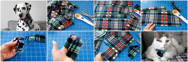 Step-by-step making polar fleece scarves