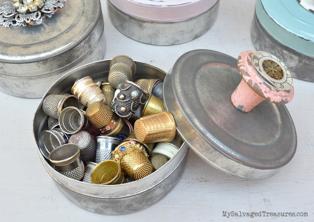 vintage movie film canisters thimble collection