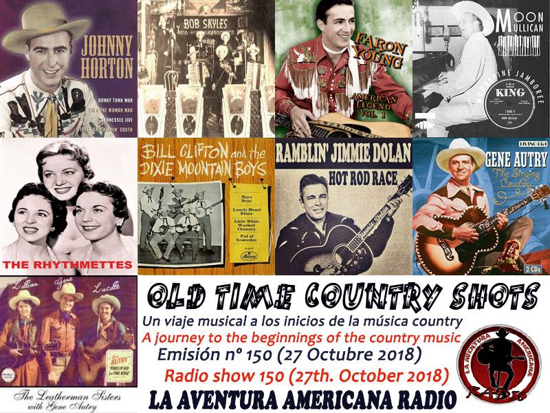 Alberto Basarte: Set-List - Old Time Country Shots – Programas 136 a 150