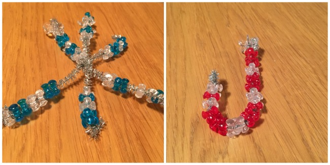 toucanBox-Subscription-Box-decorations-a-blue-and-clear-beaded-star-and-a-red-and-clear-beaded-candy-cane
