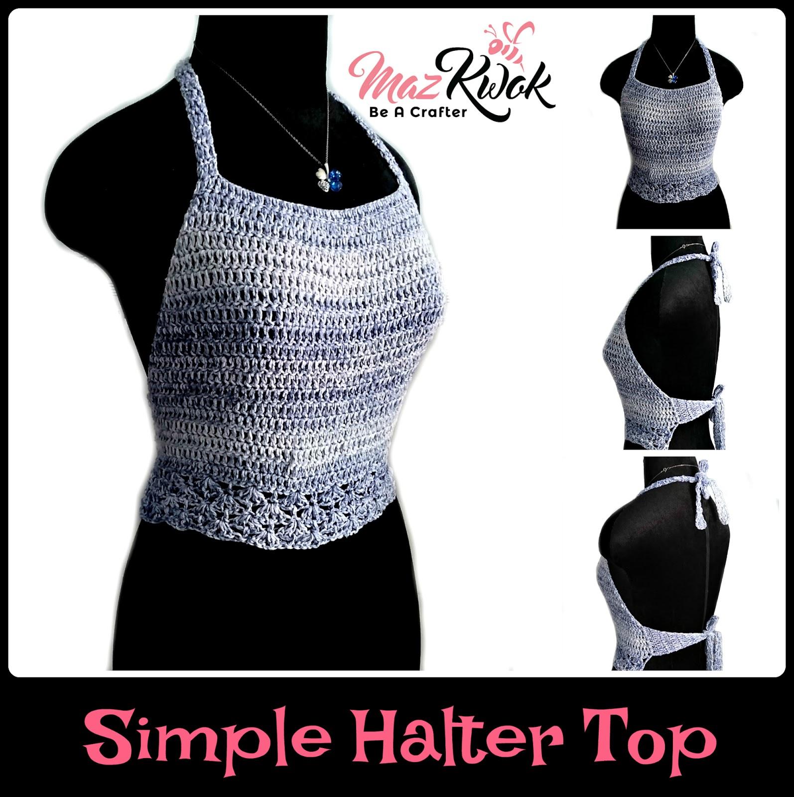 Simplehaltertopg effortless halter top crochet pattern for beach days baditri Gallery