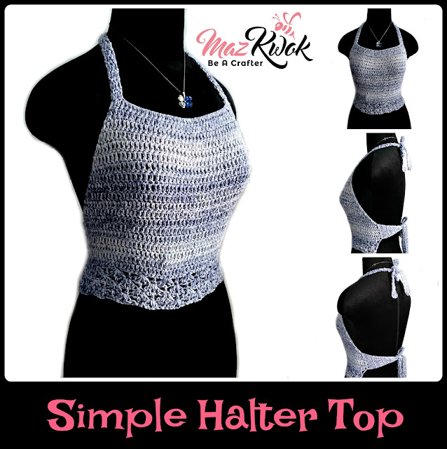 halter top free crochet pattern