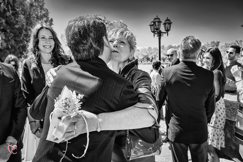 Matrimonio di alessia e fabio, fuori dalla chiesa