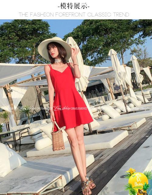 Cua hang ban váy maxi di bien o Ngoc Lam