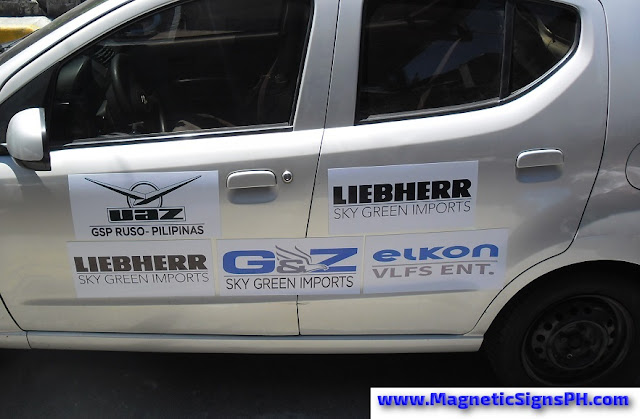 Car Magnet Signs - Company Logos