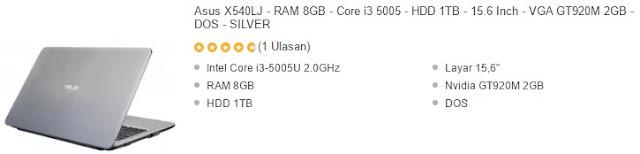 Laptop Asus menjadi primadona di Indonesia alasannya yakni kecanggihan teknologi dan harga yang te Harga Laptop Asus Core i3 RAM 8GB Murah Terbaru 2018