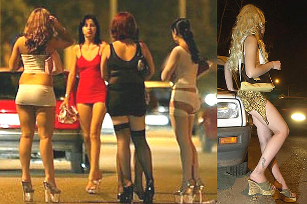 High heels mendukung penampilan seksi para PSK
