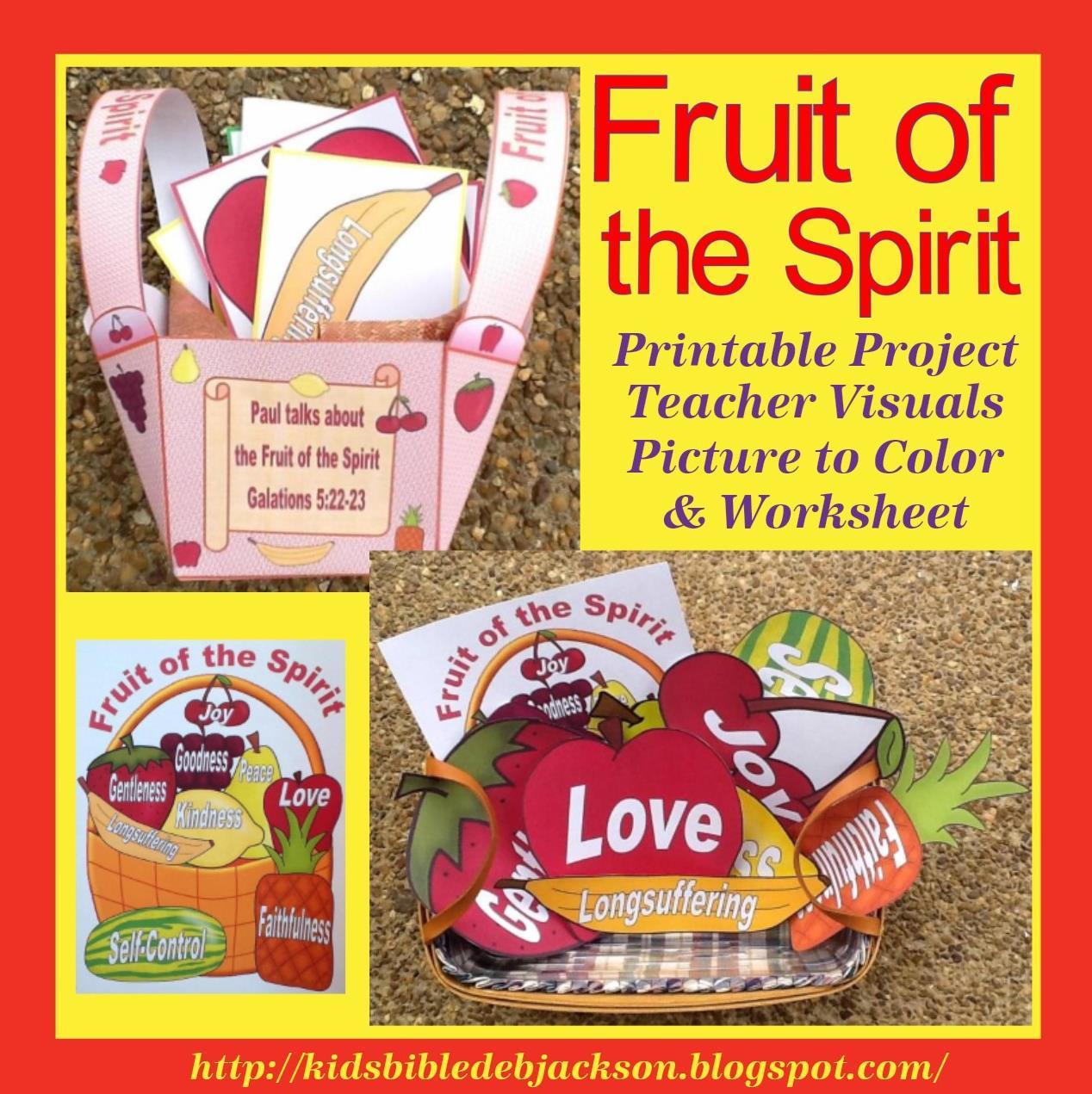 Bible Fun For Kids Fruit Of The Spirit