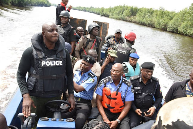 Police demolish criminal hideouts in Ishawo creeks,Arrests 13 suspected kidnappers, kills one