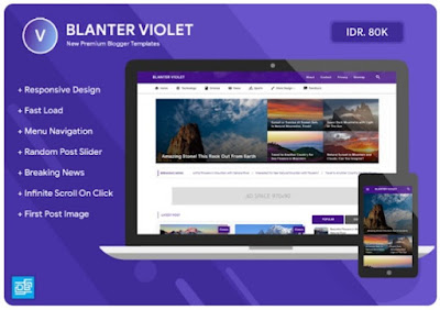 Blanter Violet Template Premium Blogger Terbaik