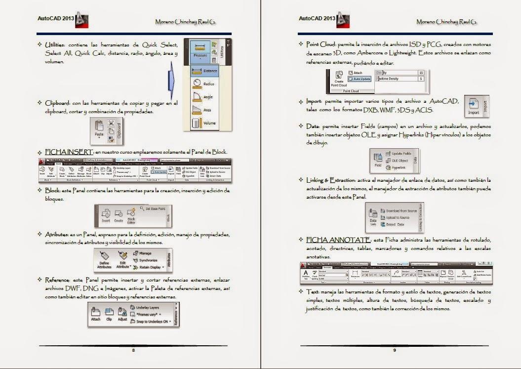 Manual de AutoCAD 2013 [Moreno Chinchay Raul] [Español