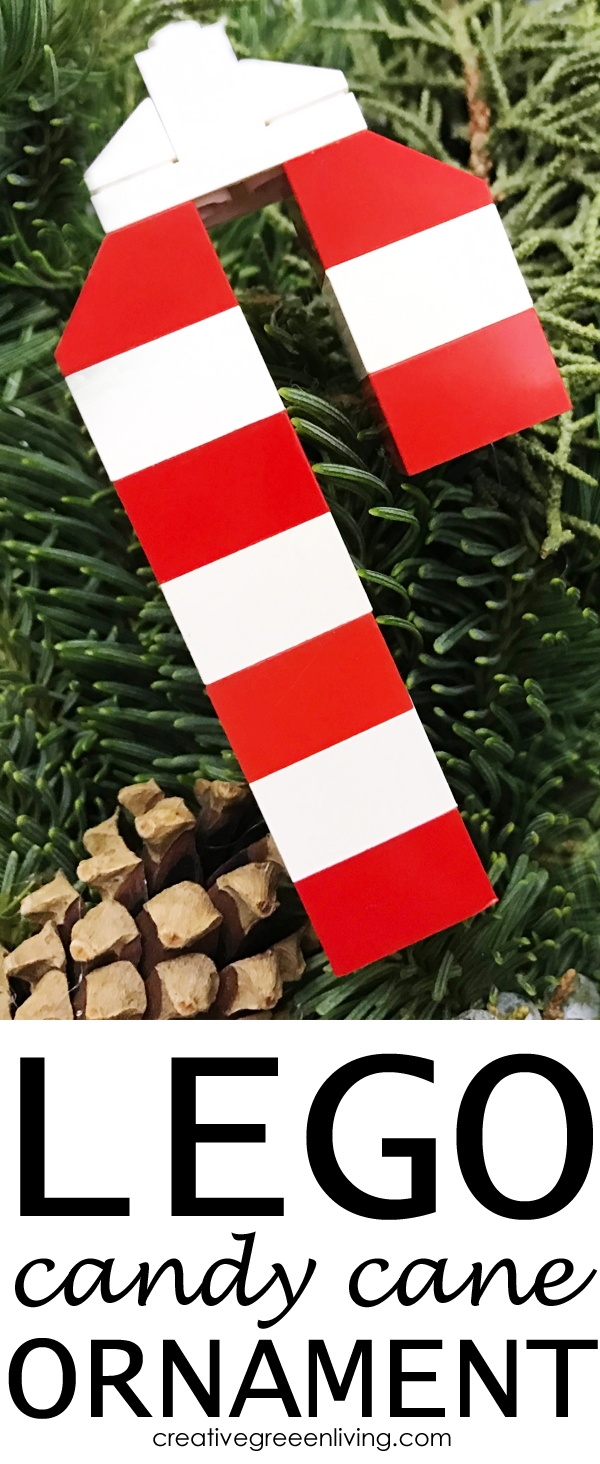 how to make lego Christmas tree ornaments - candy cane