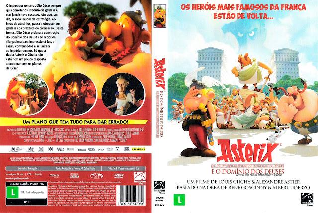 Capa DVD Asterix E O DOMÍNIO DOS DEUSES