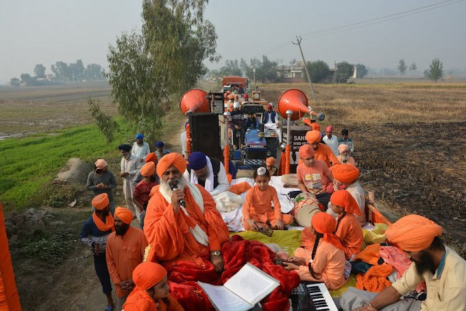 By ploughing parali in the  fields the farmers have acted on Gurbani.