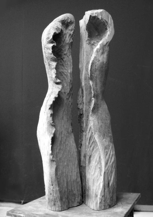 Edith Lafay sculpture bois 1 chêne taille directe