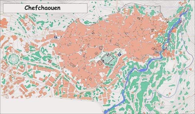Plan de la Médina de Chefchaouen