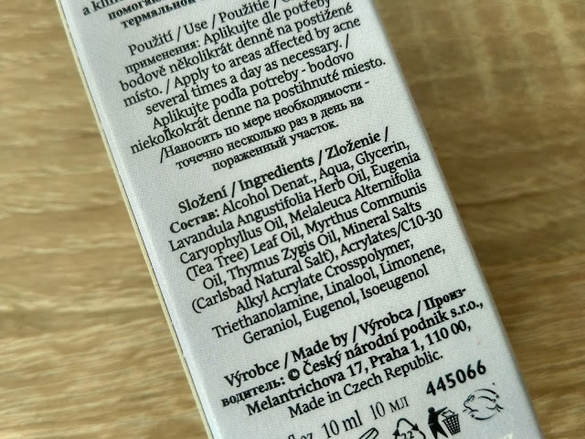 Manufaktura sos gel proti akné s levanduľou zloženie