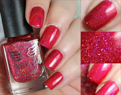 Grace-Full Nail Polish Scarlet Sparkles | Rainbow Sparklers Collection
