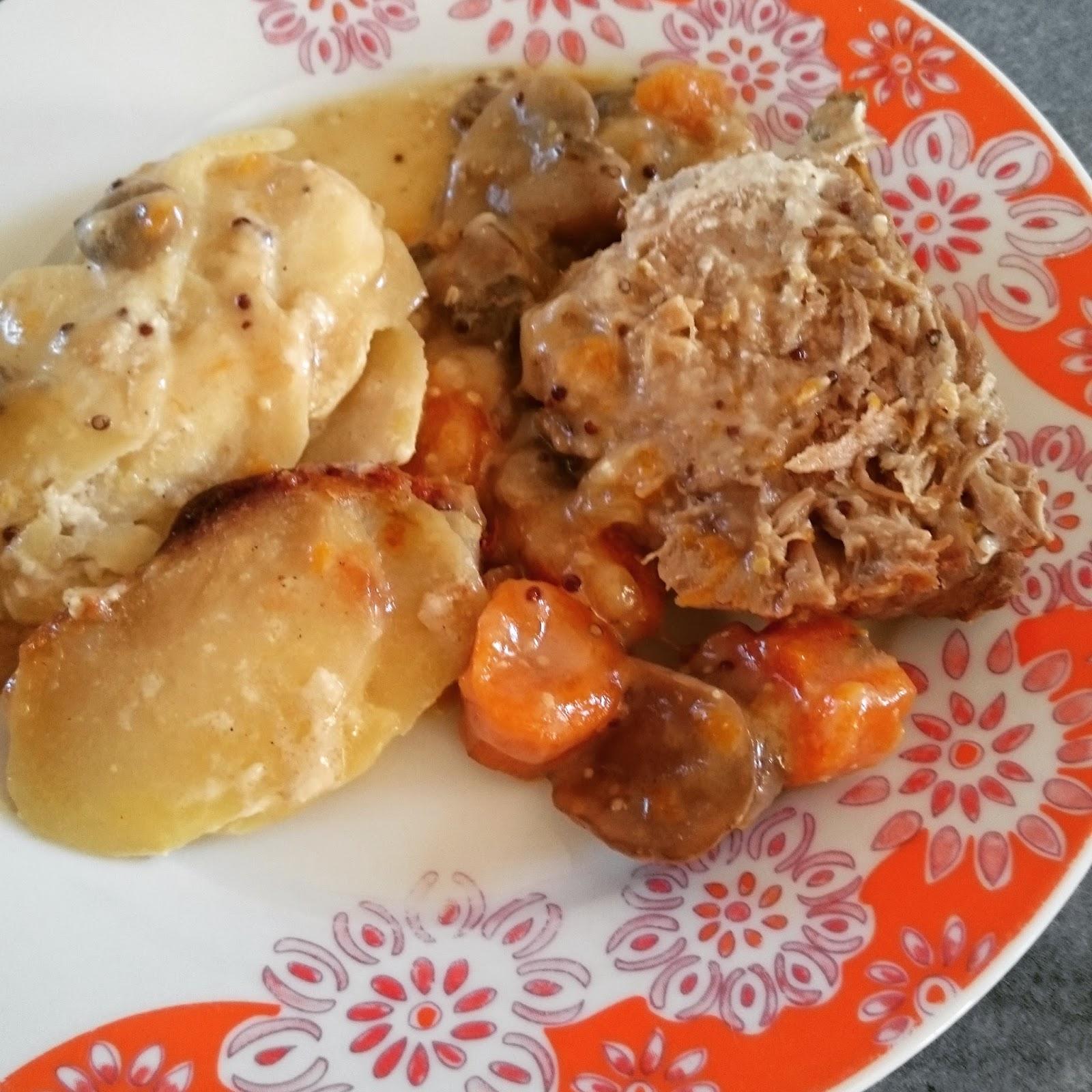 La Ptite Cuisine De Lily Roti De Porc A La Moutarde Et Au Vin