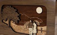 cuadro tallado en madera arte