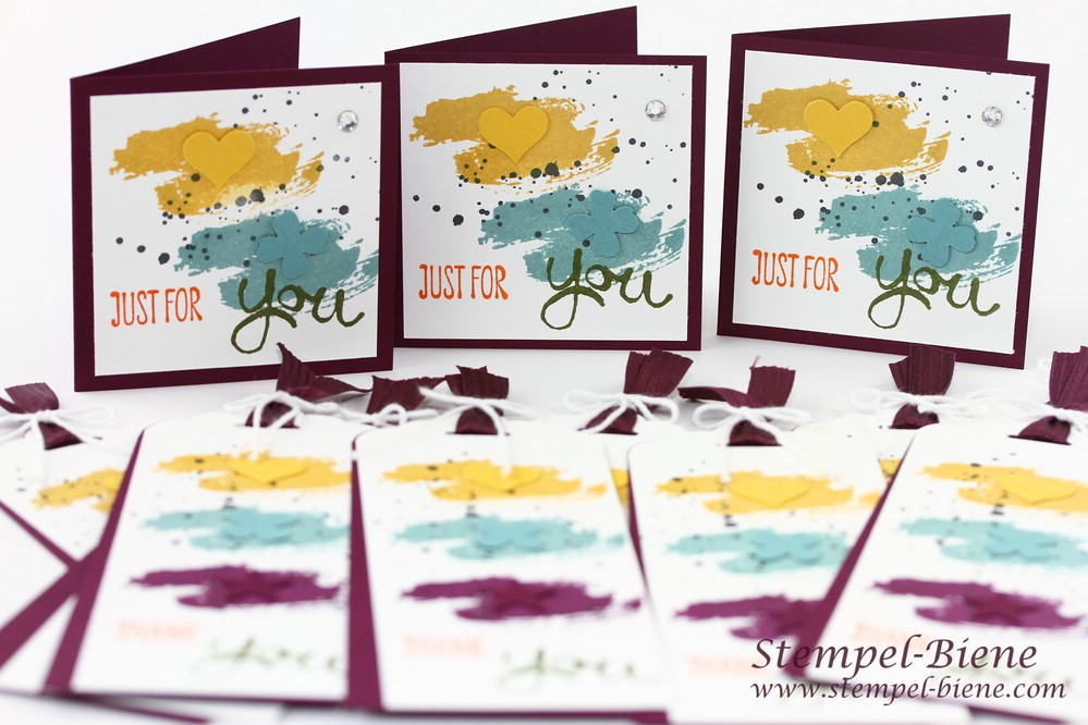Stampin' Up Work of Art, Stampin' Up Itty Bitty Stanzen, Stampin' Up In Color 2014-2016, Stampin' Up Sammelbestellung, Lesezeichen basteln
