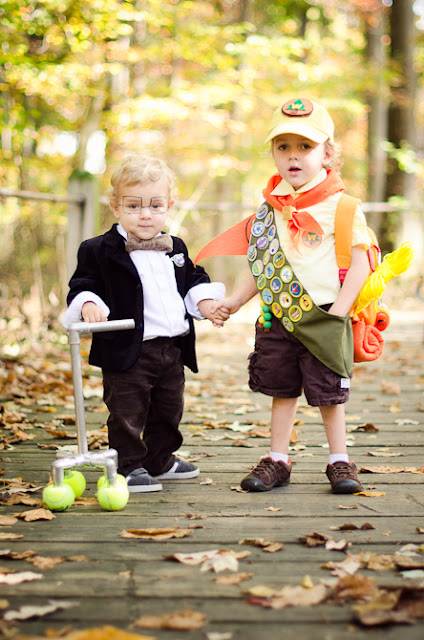 These two costumes are perfect for the little boys in your life, and you can DIY a collar for Dug to fit your own dog!