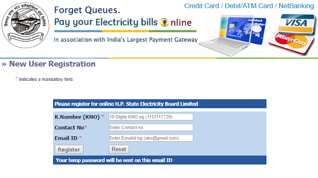 Account Registration with Himachal Pradesh Electricity Board