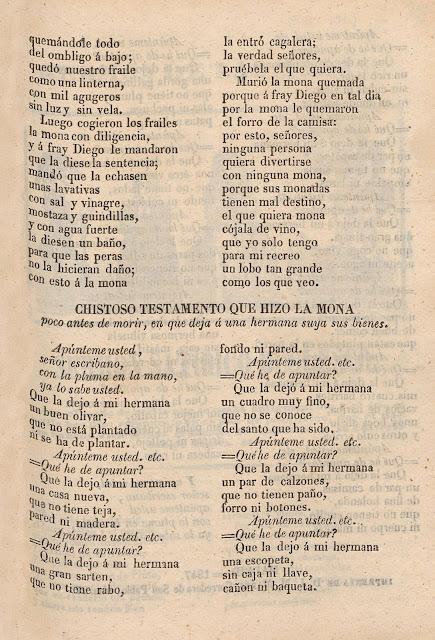 Almanaque Testamentos Burlescos Apúnteme Usted Señor Escribano