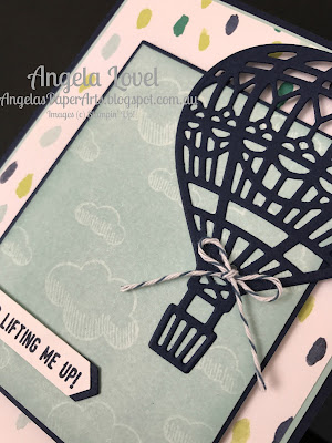 Stampin' Up! You Lift Me Up card close-up by Angela Lovel, Angela's PaperArts