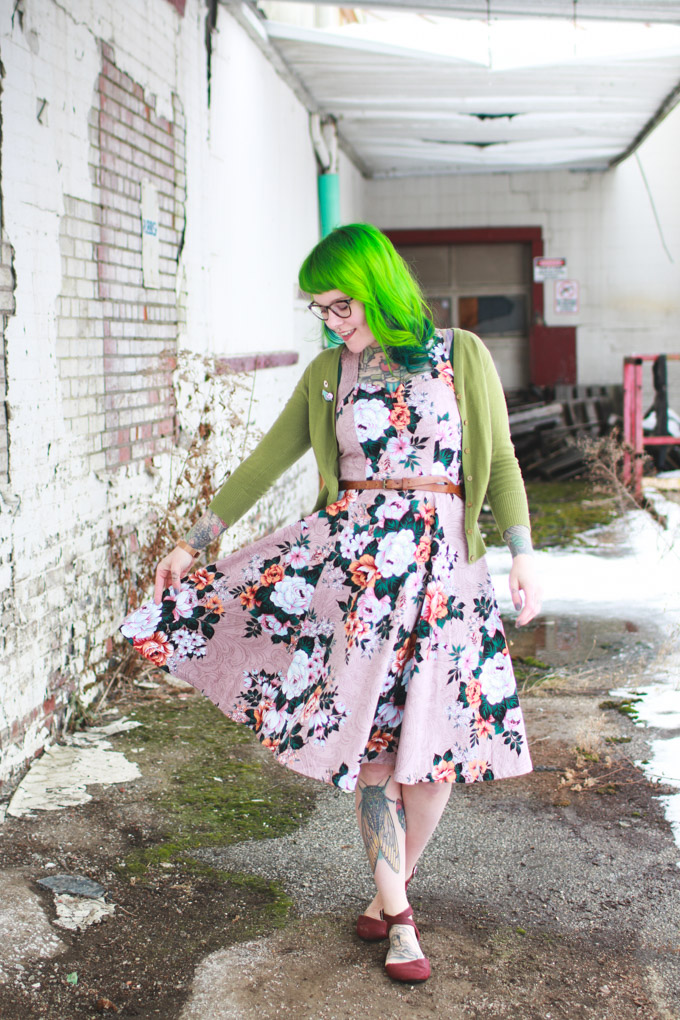 green hair, fashion, cleveland blogger